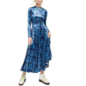 Free People Heartland Floral Velvet Maxi Dress. M
